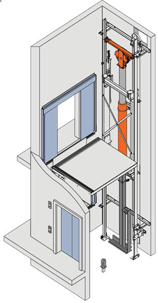 Cantilever Roped, Rear/Side Slung | MEI Total Elevator Solutions on